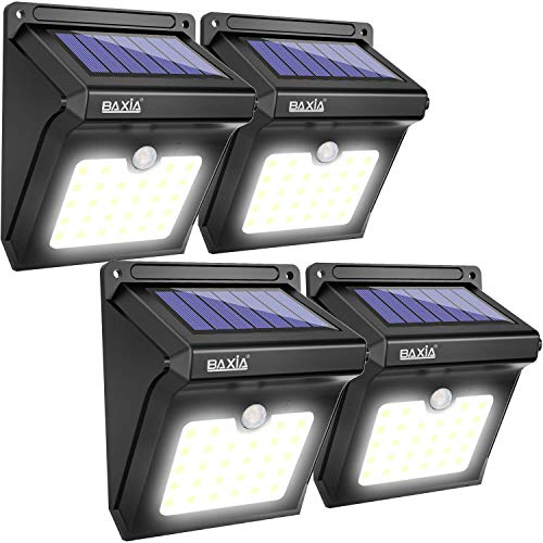 BAXIA TECHNOLOGY BX-SL-101 Solar Lights Outdoor 28 LED Wireless Waterproof Security Solar Motion...