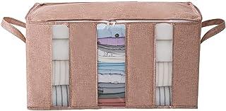Séparez La Boîte De Stockage De Vêtements, Organisateur De Stockage Couvert De Couette Couvert Par Tissu Transparent Et Pl...