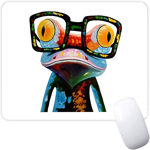 Mouse Pad for Boy Girl,Colorful Glasses Frog Pattern Seamless Waterproof Gaming Mouse Pad Desk Accessories Non-Slip Rubber Mousepad for Laptop and Computer
