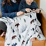Saranoni Soft 4-Layer Bamboo Muslin Quilt, 47' x 47' Bamboo + Cotton Blanket (Yosemite)