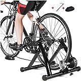 LXLH Entrenador de Bicicletas para Ciclismo en Interiores, máquina de Ejercicios para Montar en Bicicleta Soporte para Entrenador de Bicicletas - Entrenador Turbo magnético para Bicicleta - con r