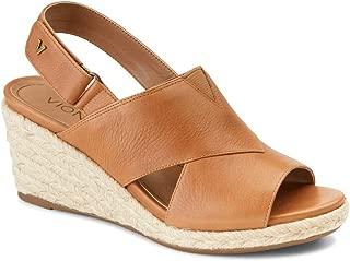 Vionic Women's Tulum Zamar Wedge Sandal - Ladies Sandals Concealed Orthotic Support