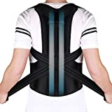 Doact Corrector de Postura Recta Soporte de Espalda para Mujeres y Hombres Alivio del Dolor en Parte Superior de Espalda Mejorar Postura Posture Corrector Aliviar la Joroba Mejorar Postura (44'-51')