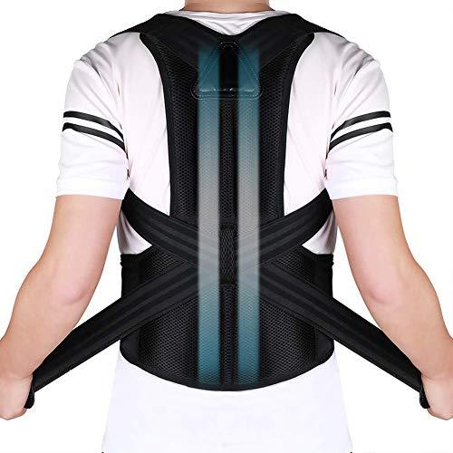 Doact Corrector de Postura Recta Soporte de Espalda para Mujeres y Hombres Alivio del Dolor en Parte Superior de Espalda Mejorar Postura Posture Corrector Aliviar la Joroba Mejorar Postura (44 -51 )