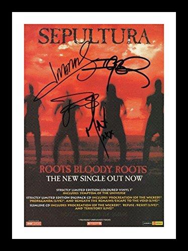 Sepultura Autogramme Signiert Und Gerahmt Foto