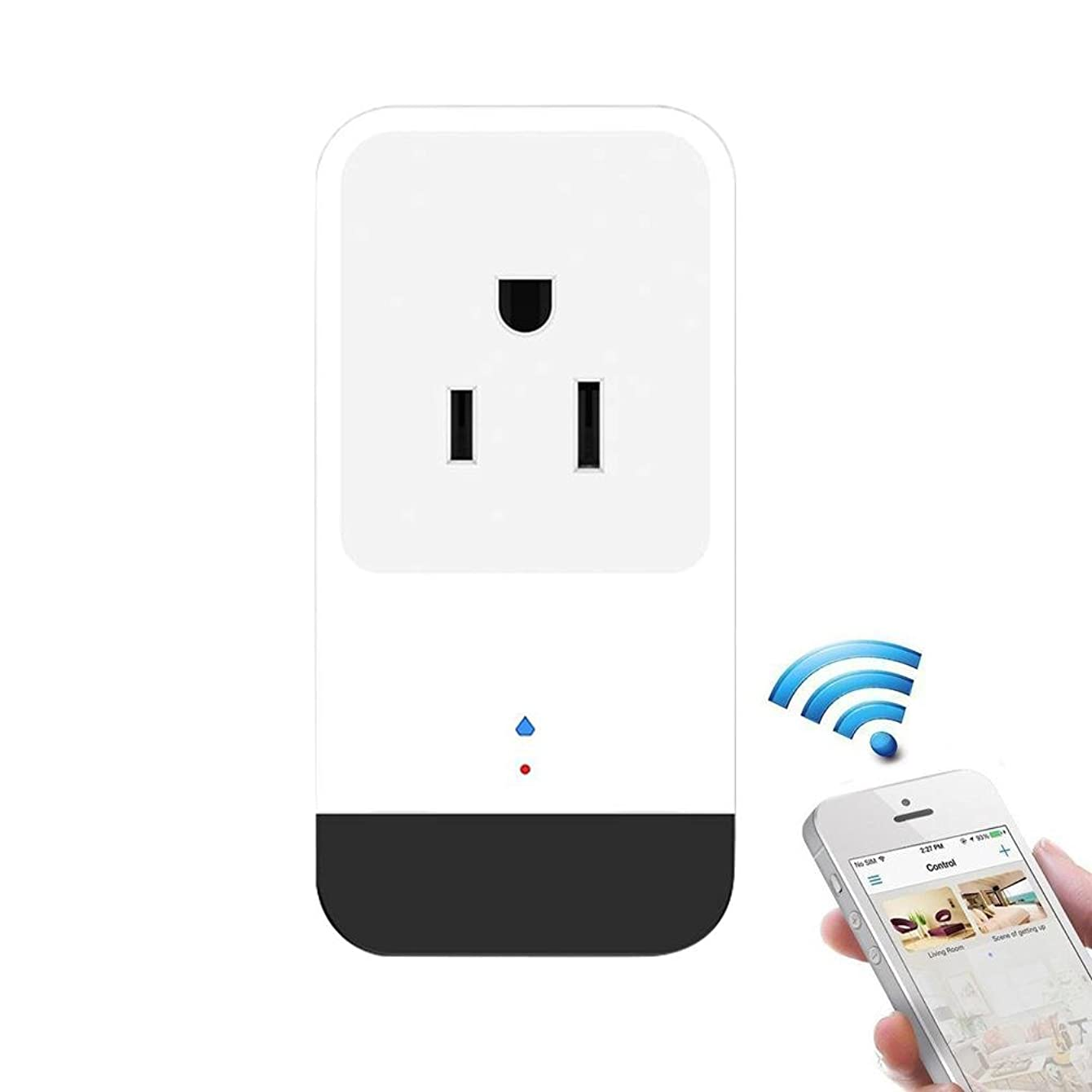 Teepao WiFi Smart Mini Plug IR Control Air Conditioner Works with Alexa and Google Home, Wireless Remote Control Electrical Outlet Switch with Energy Monitoring, Support Voice and Phone App Controlled