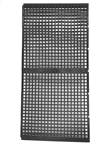 24 Inch x 48 Inch Support Grate for Water Feature Basin Construction - Holds Pond and Water Garden Bubblers, Rocks, Other Decorations - Hides Reservoir - Rustproof - Black - Can Be Cut