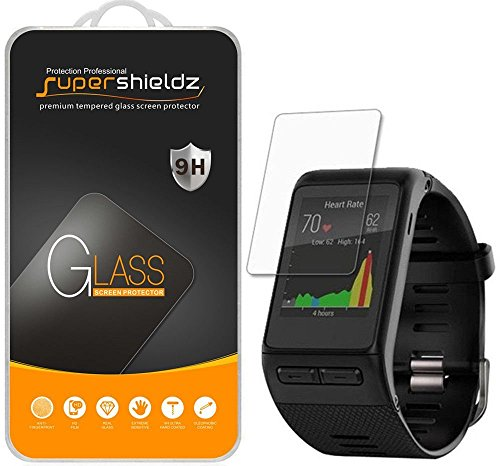 Supershieldz (3 Pack) for Garmin (Vivoactive HR) Tempered Glass Screen Protector, Anti Scratch, Bubble Free