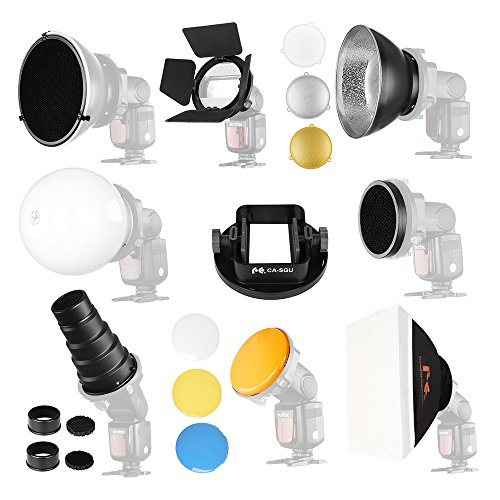 Falcon Eyes Softbox Flash Diffuser Adapter Kit Accessory for K9/K-9 Universal Mount CA-SGU Speedlite for SGA-K9 Compatible Canon Nikon
