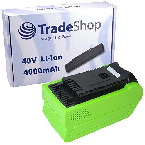 Trade-Shop Premium Li-Ion Akku 40V 4000mAh 160Wh für Greenworks Kultivator 27087, Kompressor 4100102 ersetzt 29472 29282 2601102 20302 2601402 29727