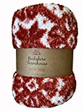 Berkshire Farmhouse Plaid Double Sided Sherpa Throw by Berkshire Blanket (Red Scandinavian Holiday)
