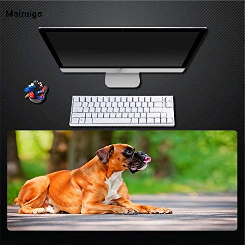SYQC Hond muismat voor grote spellen universele Desktop Mat groot formaat 400X900 rechthoekige Mat Pad groot