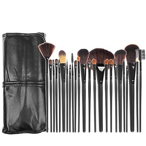 Pinceau De Maquillage Set 24 Pcs Maquillage Brushmarble Maquillage Pinceau De Maquillage En Plastique Pinceau De Maquillage Professionnel Ensemble D'outils,Noir