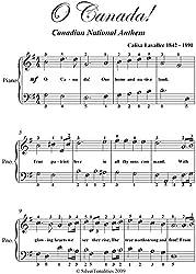 O Canada Easy Piano Sheet Music (English Edition)