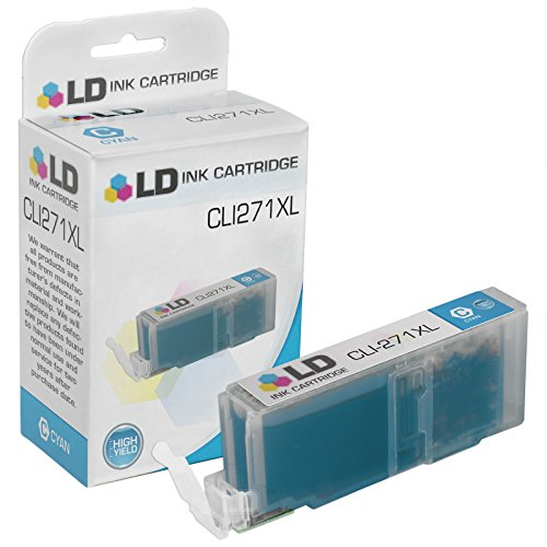 LD Compatible Ink Cartridge Replacement for Canon CLI-271XL 0337C001 High Yield (Cyan)