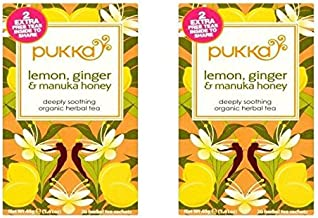 (2 PACK) - Pukka Lemon Ginger & Manuka Honey| 20 Bags |2 PACK - SUPER SAVER - SAVE MONEY