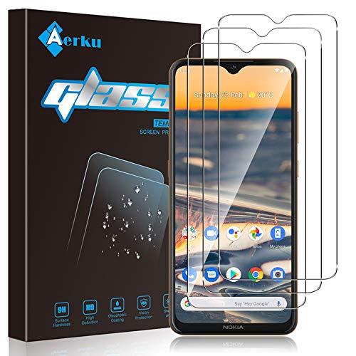 Aerku Panzerglas Schutzfolie für Nokia 5.3 / Nokia G10, 9H Festigkeit HD Schutzfolie Anti-Kratzer Folie Ultra Glatte Film Bildschirmschutzfolie Blasenfreie Panzerglasfolie [3 Stück]-Transparent