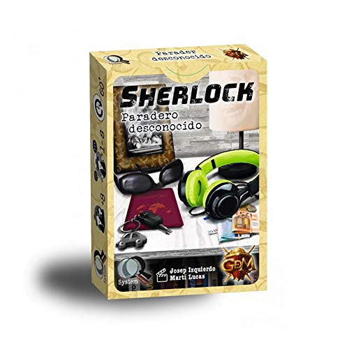 GDM Games- Sherlock: paradero Desconocido, Color Amarillo (GDM32)
