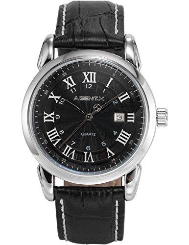 AGENT X Herren Analog Quarz Armbanduhr Geschäft Kleid