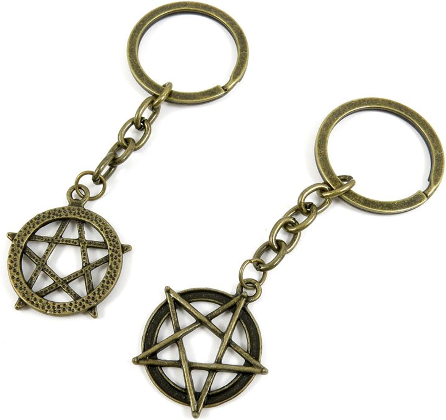 190 Pieces Fashion Jewelry Keyring Keychain Door Car Key Tag Ring Chain Supplier Supply Wholesale Bulk Lots Y8WA8 Fivepointed Star