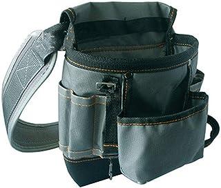 Cinturón de lona resistente para herramientas, bolsa de trabajo, bolsa de herramientas pequeña con correa ajustable para la cintura para técnicos de HVAC, mecánicos, fontaneros, jardineros