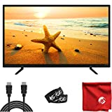 ATYME 40-Inch LED Full HD TV 1080p (395GD7HD) Lightweight Slim Built-in with HDMI, USB, VGA, High Resolution Bundle with 6-Foot HDMI Cable and Accessories