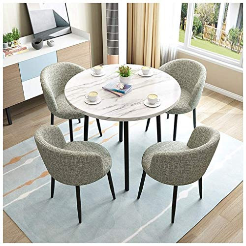 DYYD Coffee Table And Chair Set Modern Minimalist Living Room Display Outdoor Leisure Solid Wood Round Kitchen Dining Table Office Reception Negotiation Bakery Tea Shop Table and Chair Combination