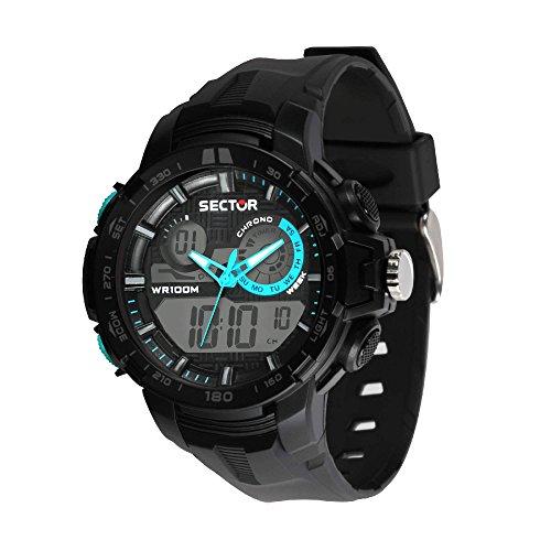 SECTOR NO LIMITS Herren Analog-Digital Quarz Uhr mit Plastik Armband R3251508003