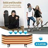 Zoom IMG-1 kovebble skateboard professionale standard completo