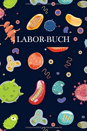Laborbuch: Baketerien Mikrobiologie | Für\'s Labor & Studium | Mit viel Platz für Notizen, Skizzen & Ergebnisse | 105 karierte Seiten | ca. Format A5 |