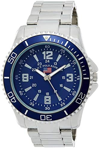 U S Polo Assn Men s Analog Quartz Watch with Alloy Strap Silver 22 Model US8621 product image