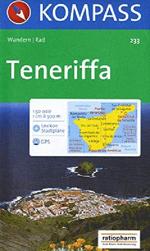 Kompass Karten, Teneriffa: Wander- , Bike-, Freizeit- und Straßenkarte. GPS.