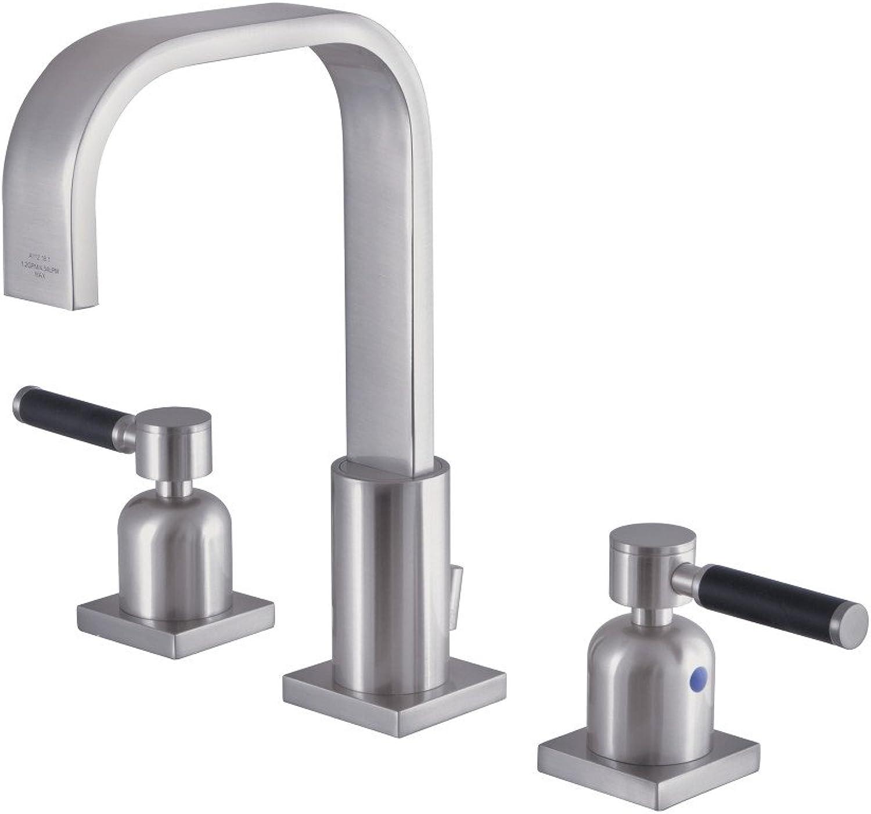 Kingston Brass FSC8968DKL Kaiser 8  Widespread Lavatory Faucet, Brushed Nickel