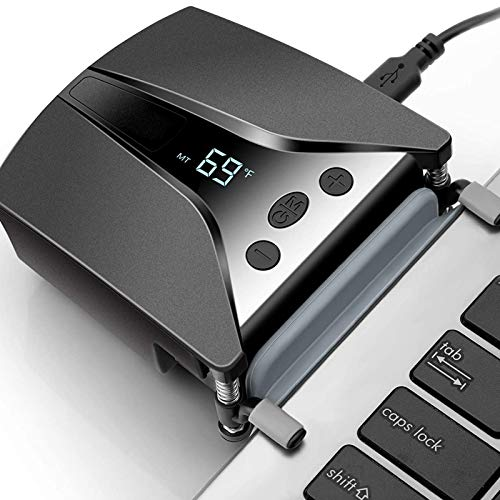 Laptop-Lüfterkühler mit Temperaturanzeige, schneller Kühlung, automatischer Temperaturerkennung, 13 Windgeschwindigkeiten, perfekt für Gaming-Laptops
