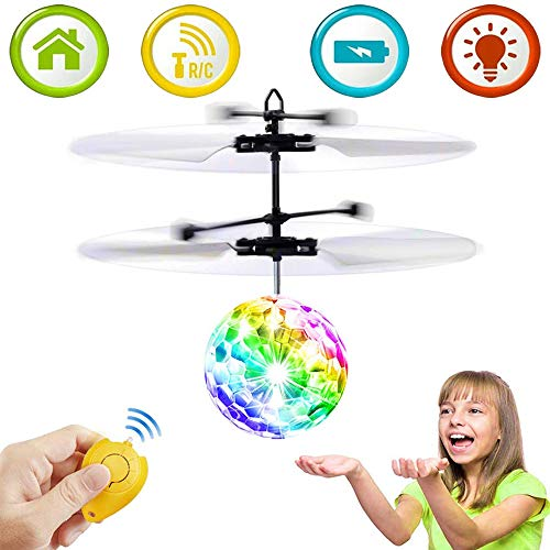 KoudHug Flying Ball Toys for Kids Boys Girls Gifts, Rechargeable Light Up Ball Drone Infrared Induction Helicopter with Remote Controller for Indoor and Outdoor Kids Games Ages 6 and Up