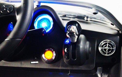 RC Auto kaufen Kinderauto Bild 4: Mercedes-Benz SLS AMG viele LED Effekte Soft Start Kinderauto Kinderfahrzeug Kinder Elektroauto (Grün)*