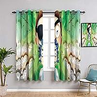 Elliot Dorothy Rick and Morty - Cortinas térmicas con aislamiento térmico, resistente al agua, para sala de estar, 63 x 183 cm, tela de poliéster resistente