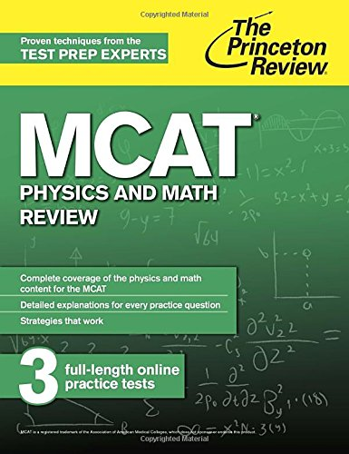 Mcat Physics And Math Review New For Mcat 2015 Graduate School Test Preparation