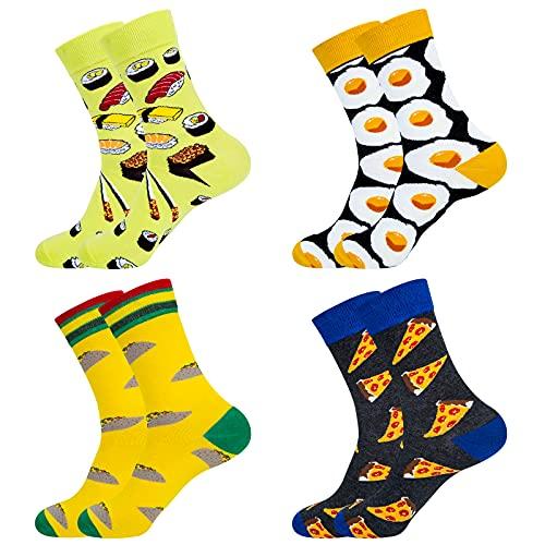 Chalier Calcetines coloridos de fantasía divertidos para hombre, regalos de algodón acogedor, diseño único y llamativo