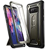 YOUMAKER Kickstand Case for Galaxy Note 8, Full Body with Built-in Screen Protector Heavy Duty Protection Shockproof Rugged Cover for Samsung Galaxy Note 8 6.3 Inch - Gun Metal/Black