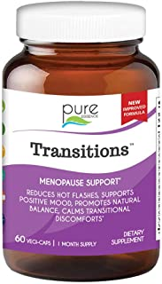 Transitions by Pure Essence Labs - Natural Menopause Relief Supplement - Promotes Hormone Balance, Reduces ...