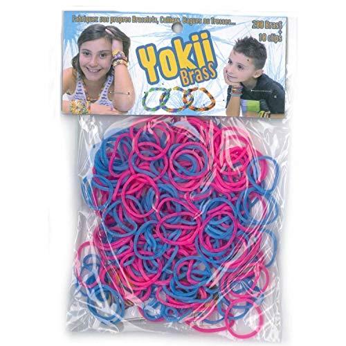 Elastiques pour bracelet YOKII Brass Violet et rose - Loom Bands