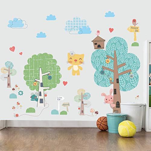 DIY Cartoon Animal Kids Muursticker Kwekerij Baby Kamer Thuis Decoratie Lijm Poster Wallpaper