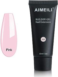 AIMEILI Pink Quick Builder Gel 30ml 1oz Nail Enhancement Nail Extension Tool