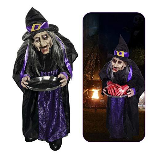 Best Animated Lifesize Witch with Food Dish on Hand