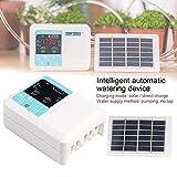 1 set de riego automático con temporizador inteligente de agua solar con pantalla LCD resistente al agua