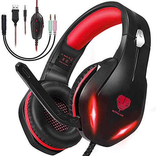 Stereo Gaming Headset with Microphone for PS5 PS4,Nintendo Switch,Xbox...