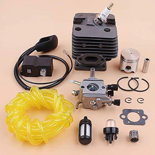 BLTR Kit de 35 mm Cilindro del pistón del carburador Bobina de Encendido línea de Combustible Stihl FS250 FS200 FS250R FS200R FS120 FS120R Trimmer Desbrozadora De Confianza