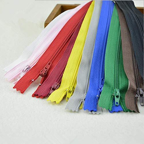 20 unids/lote 18 cm cremallera de alta calidad cremallera de nailon prenda poliéster color puerta cremallera DIY ropa suministros de costura cremallera
