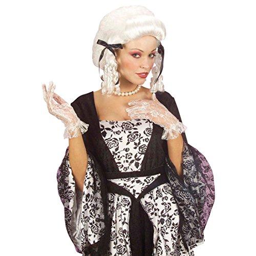 Perruque Historique Blond Platine Cheveux À Boucles Blanc Diva Blanc Perruque Comtesse Anglaise Vampire Soirée Accessoire Déguisement Carnaval